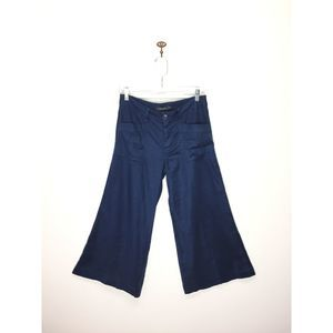 Anthro Level 99 navy blue cropped flare pants 27